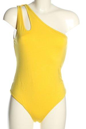 Lovers + friends Body bladożółty W stylu casual