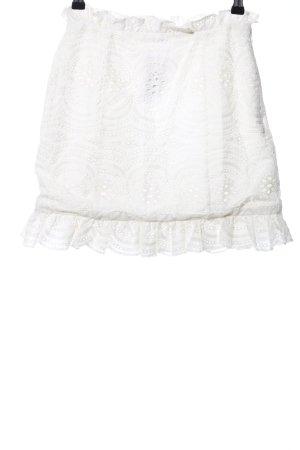 Lovers + friends Falda de encaje blanco puro elegante
