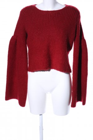 Lovers + friends Strickpullover rot Zopfmuster Casual-Look
