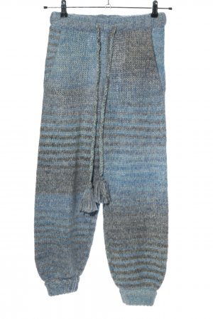 LoveShackFancy Wollhose blau-hellgrau Casual-Look