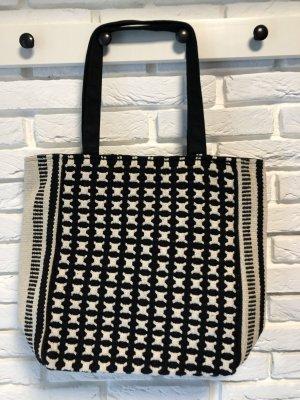Impressionen Shopper noir-blanc cassé coton