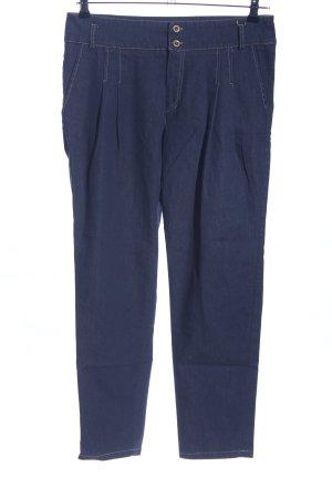 Jeans a carota blu stile casual