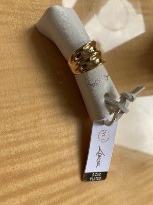 lovisa Gouden ring zandig bruin Gemengd weefsel