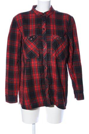 Holzfällerhemd rot-schwarz Karomuster Casual-Look