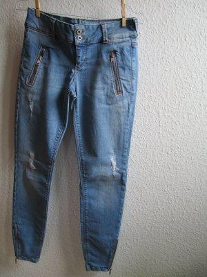 Tom Tailor Denim Jeans 7/8 bleu azur coton