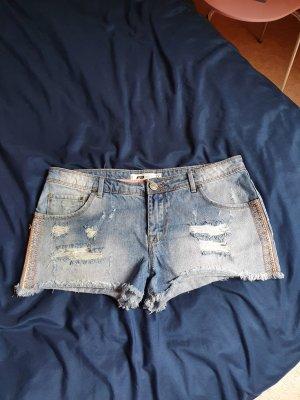 Fishbone Pantaloncino di jeans multicolore Cotone