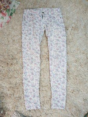 Terranova Jeans slim fit bianco-rosa pallido