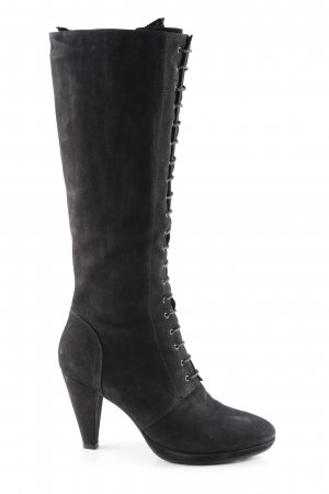 High Heel Stiefel schwarz Casual-Look