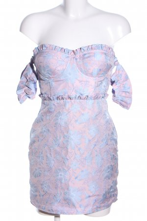 LPA Bustier Dress pink-blue allover print elegant