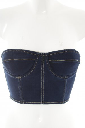 LPA Corsagen Top blau Jeans-Optik