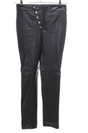LPA Leren broek zwart casual uitstraling
