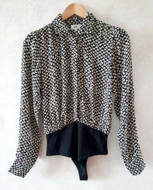 LPA Bodysuit Blouse black-cream
