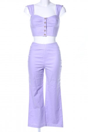 LPA Web Twin Set lila Casual-Look