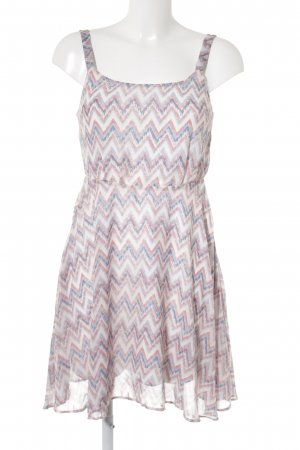 LTB A-Linien Kleid abstraktes Muster Casual-Look