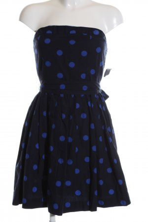 LTB Bandeaukleid schwarz-blau Punktemuster Elegant