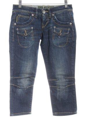 LTB by Littlebig 3/4 Jeans dunkelblau Washed-Optik