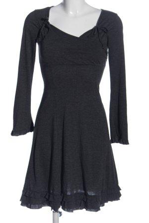 LTB by Littlebig Flounce Dress black flecked casual look