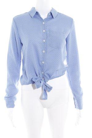 LTB by Littlebig Wickel-Bluse kornblumenblau-wollweiß schlichter Stil
