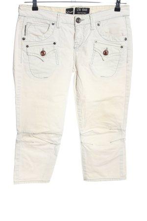 LTB Spodnie Capri biały W stylu casual