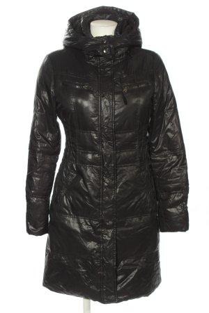 LTB Płaszcz puchowy czarny Pikowany wzór W stylu casual