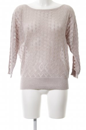 LTB Grobstrickpullover wollweiß Zopfmuster Casual-Look