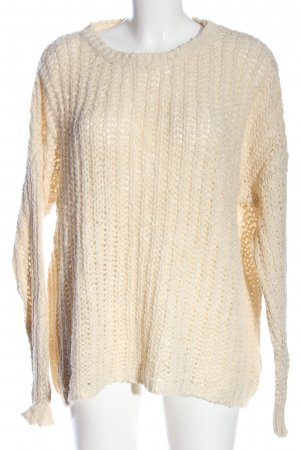 LTB Grobstrickpullover creme Zopfmuster Casual-Look