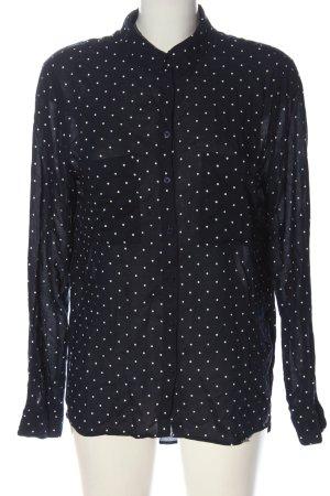 LTB Camicia blusa blu-bianco stampa integrale stile professionale