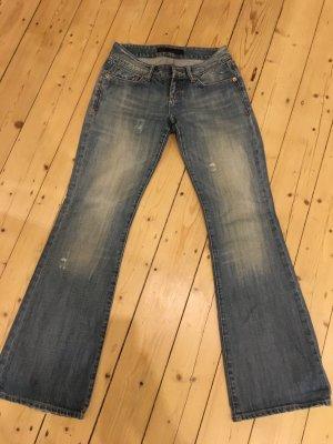LTB Jeans a zampa d'elefante blu neon Cotone