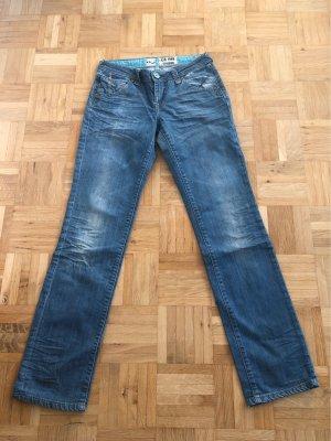 LTB Jeansy z prostymi nogawkami jasnoniebieski-niebieski neonowy