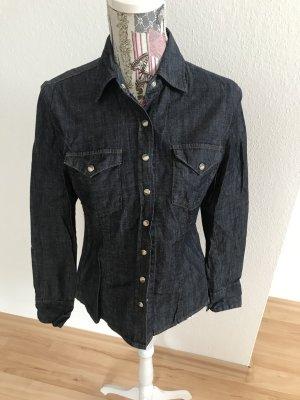 LTB JEANS Bluzka jeansowa ciemnoniebieski Bawełna