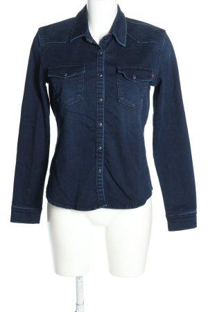 LTB Jeansowa koszula niebieski W stylu casual