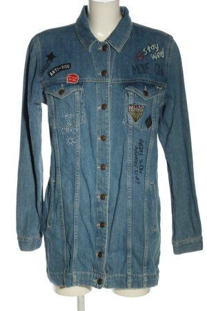 LTB Jeansjacke blau Schriftzug gedruckt Casual-Look