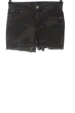 LTB Pantaloncino di jeans cachi-nero Motivo mimetico stile casual