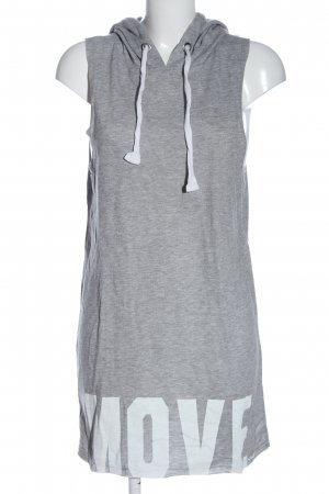 LTB Hooded Dress light grey-white flecked casual look