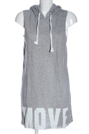 LTB Robe à capuche gris clair-blanc moucheté style décontracté