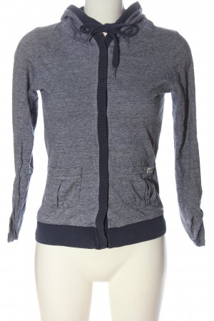 LTB Hooded Shirt blue flecked casual look