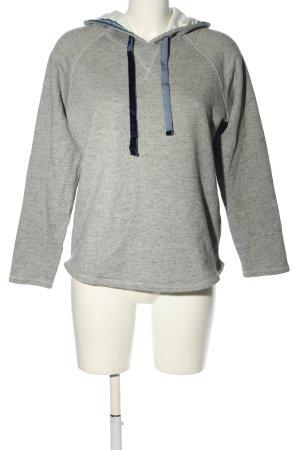LTB Sudadera con capucha gris claro moteado look casual