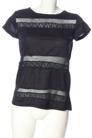 LTB Kurzarm-Bluse schwarz Casual-Look