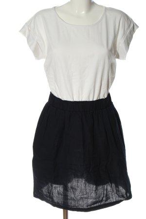 LTB Kurzarmkleid schwarz-weiß Casual-Look