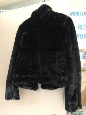 LTB Kurtka ze sztucznym futrem czarny