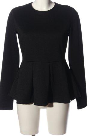 LTB Langarm-Bluse schwarz Casual-Look