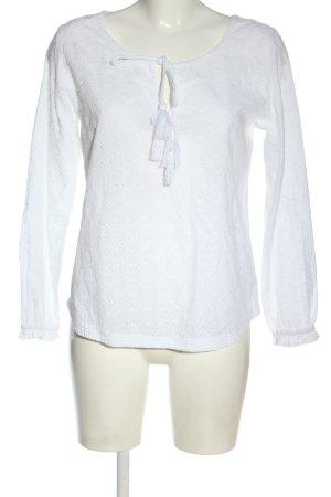 LTB Camicetta a maniche lunghe bianco stile casual
