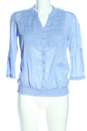 LTB Langarm-Bluse blau Business-Look