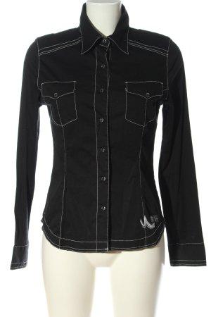 LTB Camicia a maniche lunghe nero elegante