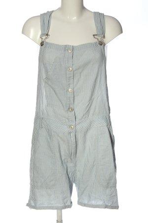 LTB Pantalón corto tipo peto blanco-azul look casual