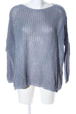 LTB Oversized Pullover blau Zopfmuster Casual-Look
