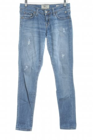 LTB Röhrenhose himmelblau-weiß Farbverlauf Casual-Look