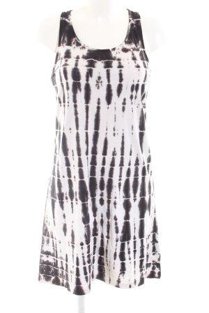 LTB Shirtkleid schwarz-weiß abstraktes Muster Casual-Look