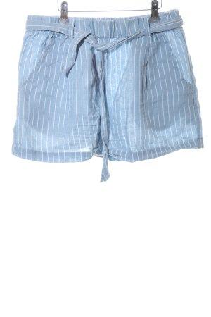 LTB Shorts blau-weiß Streifenmuster Casual-Look