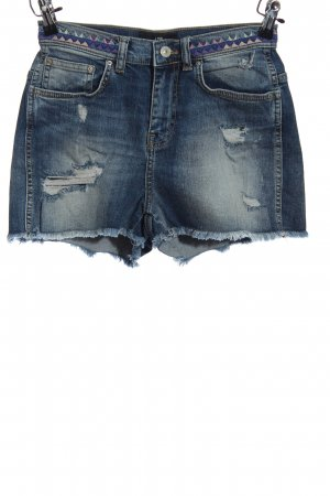 LTB Shorts blau grafisches Muster Casual-Look